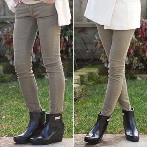 HUNTER Aston Ankle Wedge Rubber Rain Boots